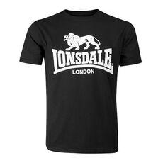 Lonsdale Logo GOTS T-Shirt - Black