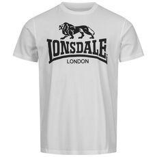 Ανδρικό Μπλουζάκι Lonsdale Logo GOTS - White
