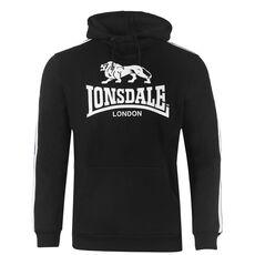 Φούτερ Lonsdale 2Stripe Ανδρικό - Black/White