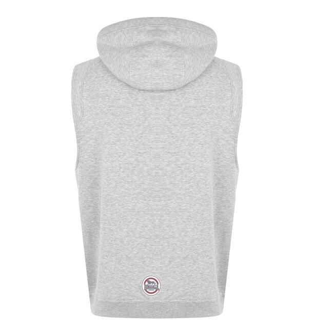 Αμάνικη Ζακέτα Lonsdale με Κουκούλα Hooded Top Grey Marl, Χρώμα: Grey, Μέγεθος: XS, Εικόνα