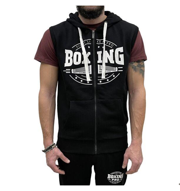 Αμάνικη Ζακέτα με Κουκούλα Boxing Pro Classic - Black